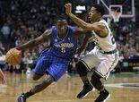 Orlando Magic guard Victor Oladipo (5), drives toward the basket past Boston Celtics guard Phil Pressey, right, in the third quarter of an N...    -- #VictorOladipoNBA