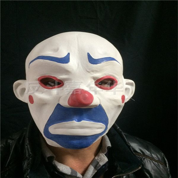 2017 New Party Masqu Wholesale Latex Clown Mask Payday 2 Halloween Batman Mask For Party Mascara Carnaval Joker Robber Mask toys