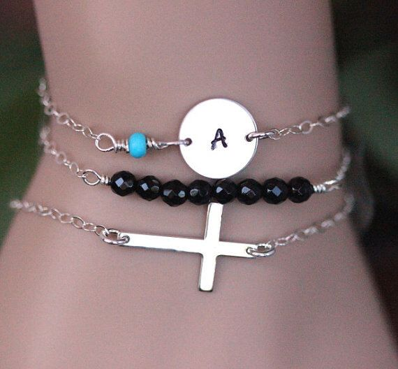 A personal favorite from my Etsy shop https://www.etsy.com/listing/252389850/sterling-silver-sideways-cross-bead-bar