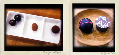 Monty's Chocolate Truffles and chocolate covered nuts.