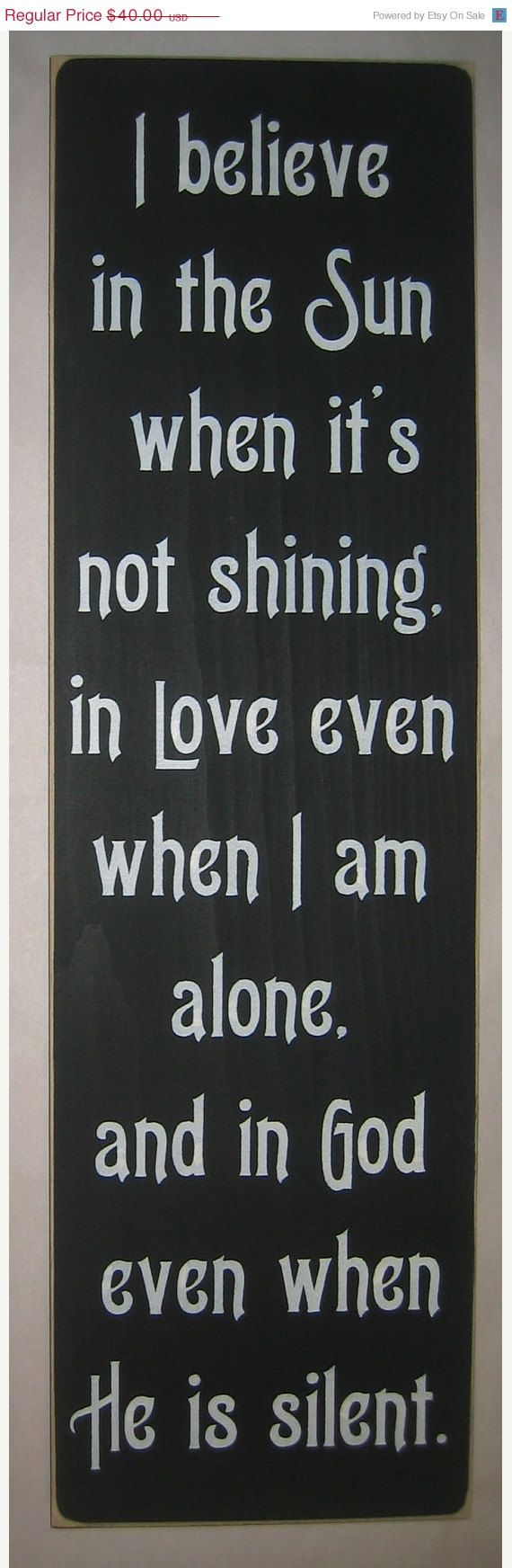 on sale I believe in the sun when it's not by CottageSignShoppe