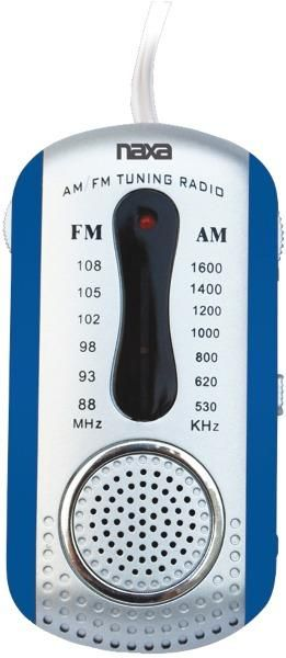 wholesale Naxa - AM/FM Mini Pocket Radio with Speaker (Blue) (Case of 2)