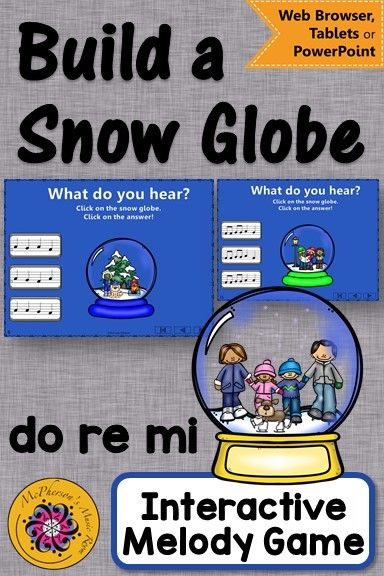 Elementary Music Game! Perfect for your Winter music lesson plans! Fun melody game!  #elmused #musicgames #elementarymusic #McPhersonsMusicRoom