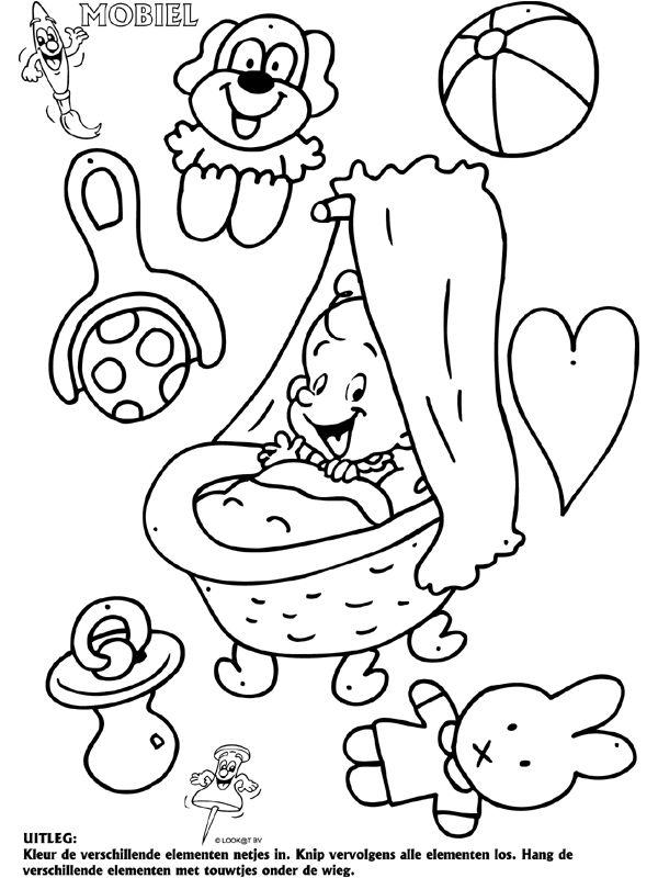 Baby geboorte - Mobielen - Knutselpagina.nl - knutselen, knutselen en nog eens knutselen.