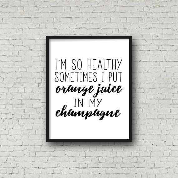 Healthy Print Fitness Poster Typographic Art by SincerelyByNicole