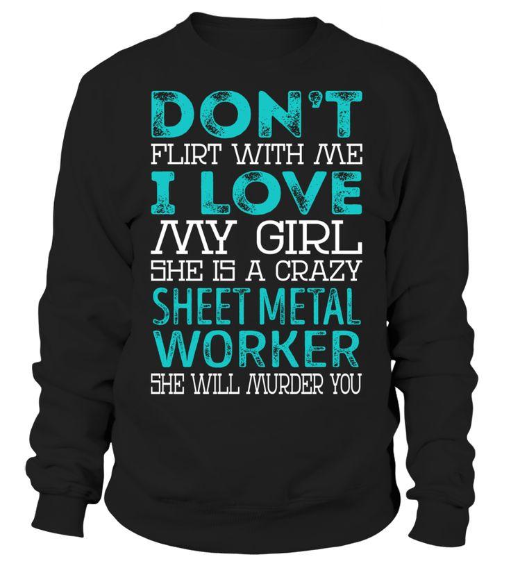 Sheet Metal Worker - Crazy Girl #SheetMetalWorker