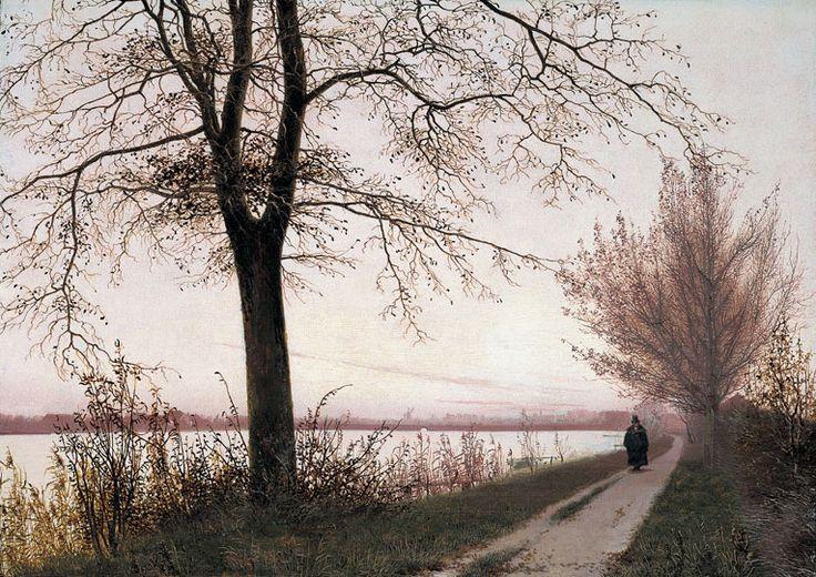 Christen Købke (1810-1848), Matin d'Automne sur le Lac Sortedam - 1838