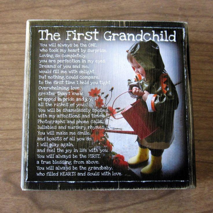 My First Grandchild...