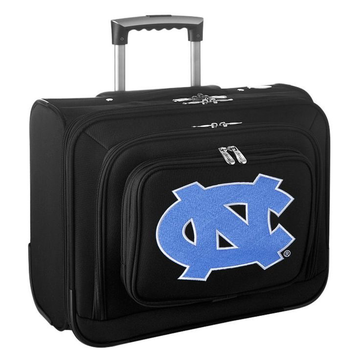 UNC Tar Heels Carry-On Rolling Laptop Bag - Black