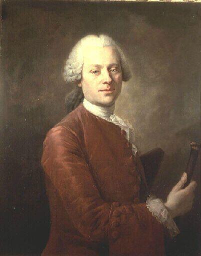 Tocqué Louis (attribué à). Portrait présumé du philosophe Jean d'Alembert. Musée de Versailles.