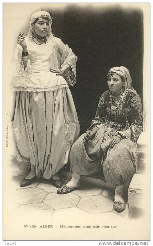 postcards africa algeria women. Black Bedroom Furniture Sets. Home Design Ideas