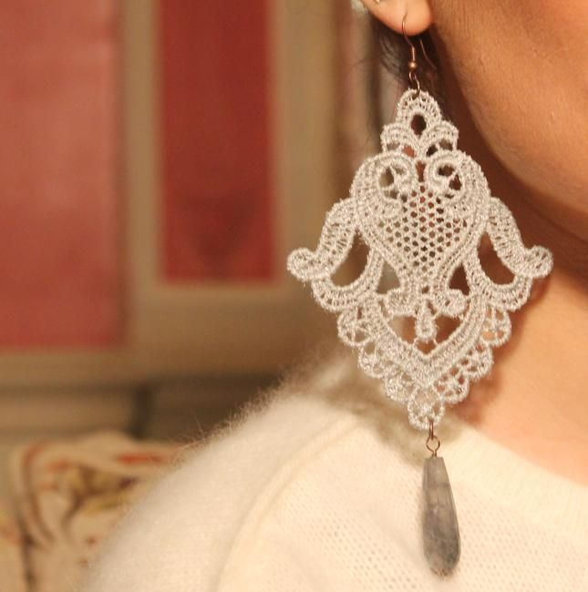 atelier dream shabby chic, orecchini, style and trouble, fashion victim, chic, earrings, beautiful, shabby, atelier, artigianal - Made in Italy