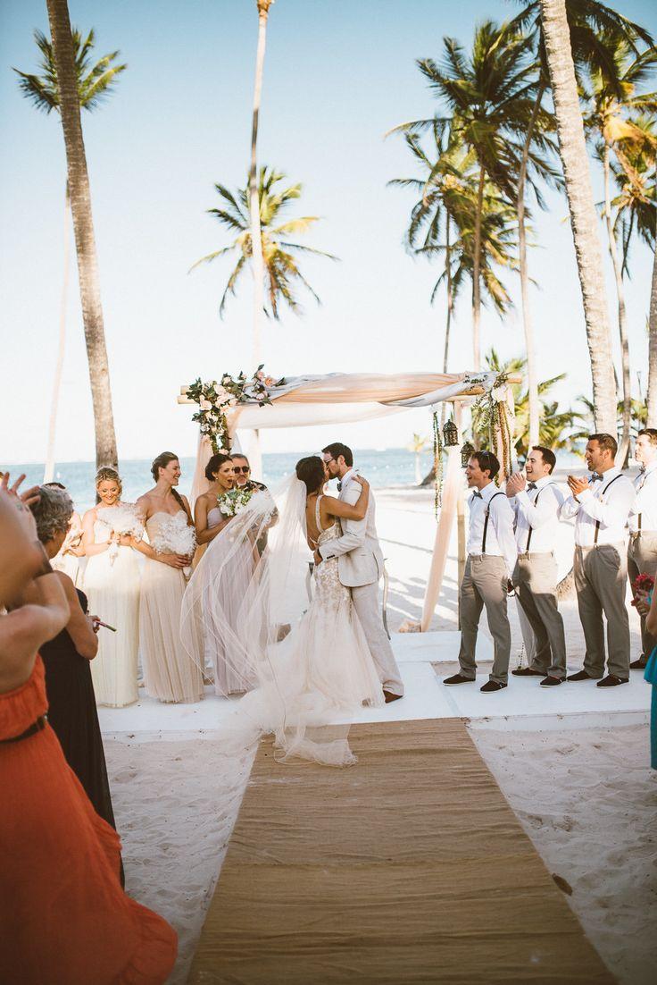 Photography: ShoeBox Photography - www.shoeboxphotography.ca  Read More: http://www.stylemepretty.com/destination-weddings/2014/09/01/vintage-bohemian-beach-wedding-at-jellyfish-punta-cana/