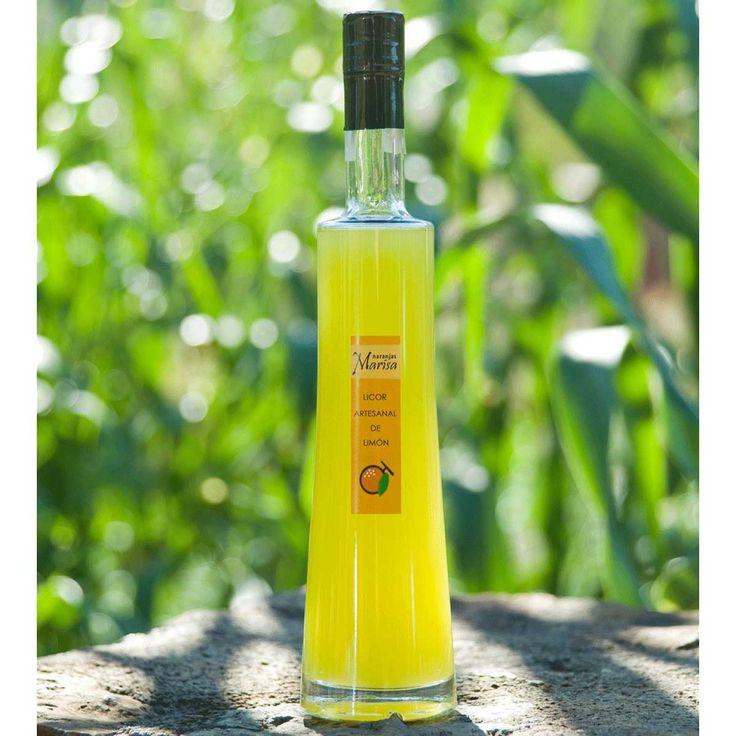Productos elaborados – Naranjas Marisa. LICOR DE LIMÓN 500ml. Productos elaborados 100% naturales y de cosecha propia.