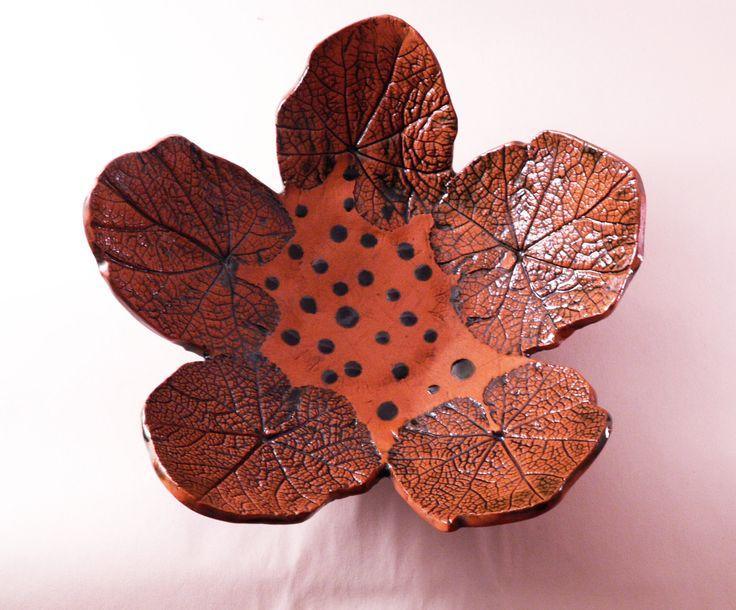 Mallow leaves ceramic bowl, natural bowl, ceramic leaf, handmade leaves, modern bowl, modern shape, modern style, kitchen decor, home decor by CeramicsNaturalist on Etsy