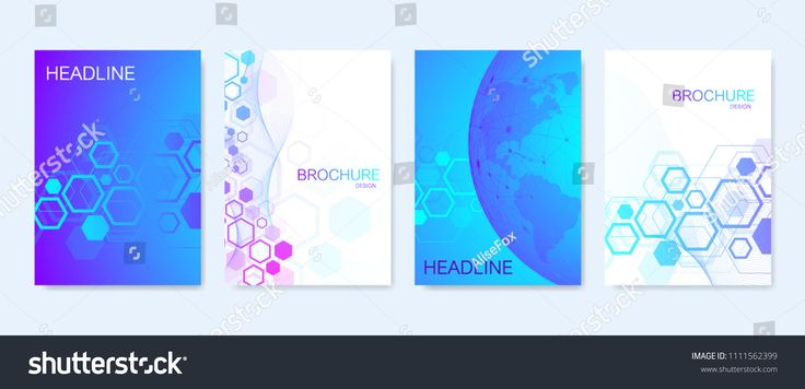 Business vector templates for brochure, cover, banner, flyer, annual report, leaflet. Abstract composition with molecule structure, dots, lines. Wave …