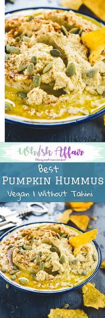 This recipe of Pumpkin Hummus is a perfect example of healthy as well as delicious food. Recipe to make Tahini from scratch included. Recipe I Healthy I Olive Oils I Dip I Sweet I savoury I Appetizers I Sandwich I Easy I Roasted I Gluten Free I Middle Eastern #PumpkinRecipes #HummusRecipes #MiddleEasternRecipes via @WhiskAffair
