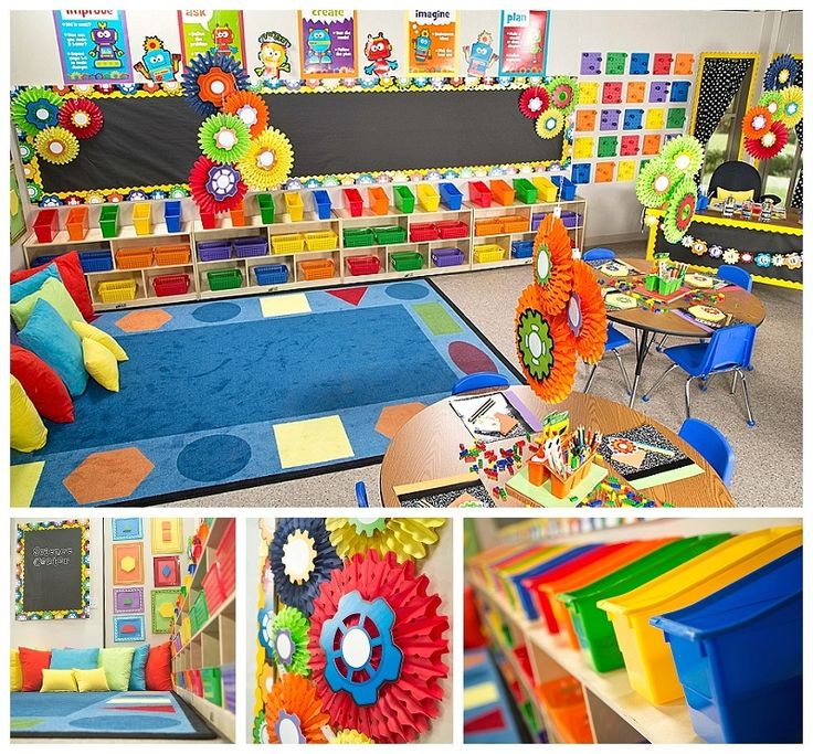 Gears and Robots Classroom Decor