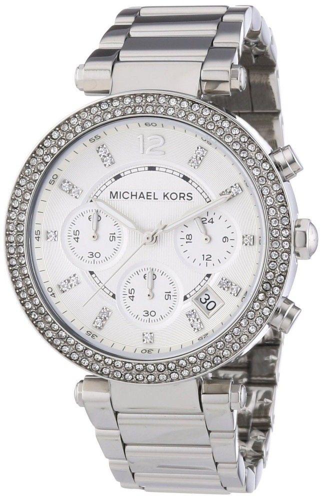 Original Michael Kors MK5353 Parker Damenuhr Armbanduhr Edelstahl Farbe Silber Strass