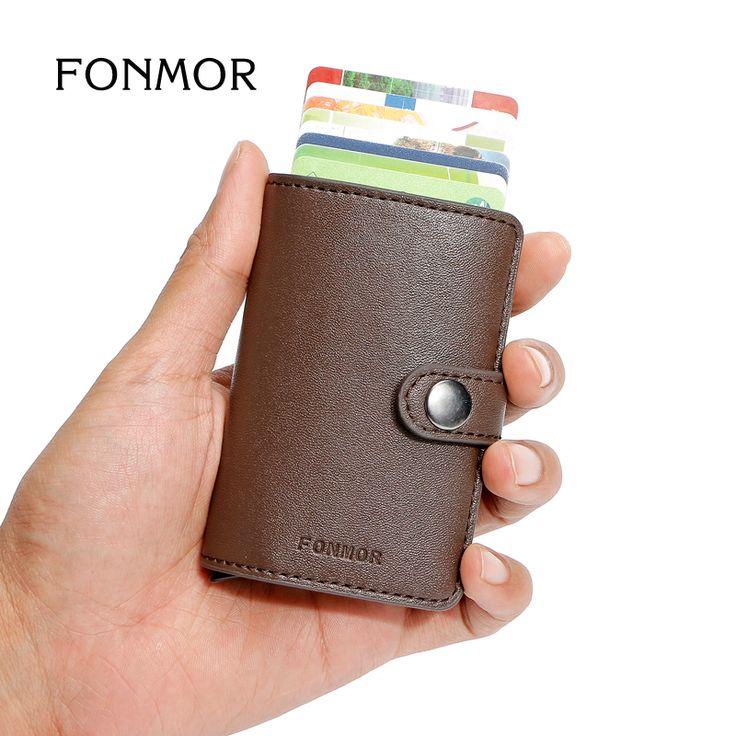 FONMOR MINIWALLET RFID Caso Cartera de Tarjeta de Moda Titular de la Tarjeta de Crédito de Aluminio Automática Creditcardhouder Cardprotectors