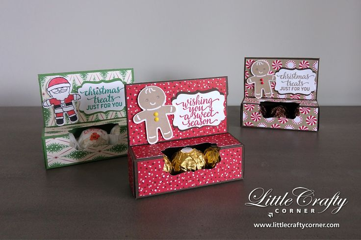 I am so happy to share with you today a great little treat box with gift card holder. The idea and design came from Angelina Clark, the Stam...