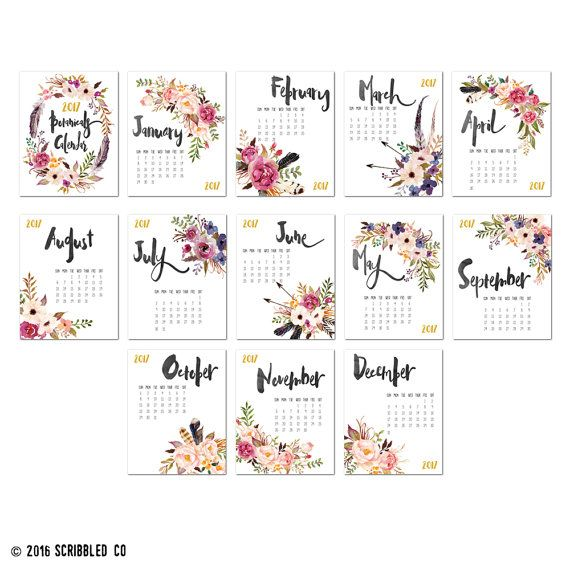 This 11x14 2017 monthly wall calendar features a watercolor floral design so that your wall calendar will add a unique look to your home or office décor.  Looking for a unique calendar? Look no further! We have the perfect 11x14 wall calendar for you!  . . . . . . . . . . . . . . . . . . . . . . . . . . . . . . . . . . . . . . . . . . . . . . . . . . . . . . . . . . . . . . .   PRODUCT FEATURES:   ♥ Size: 11 inches x 14 inches ♥ Page count: 13 (1 page for each month & a cover page) ♥ Card…