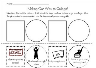 cut and paste activity about the college application process