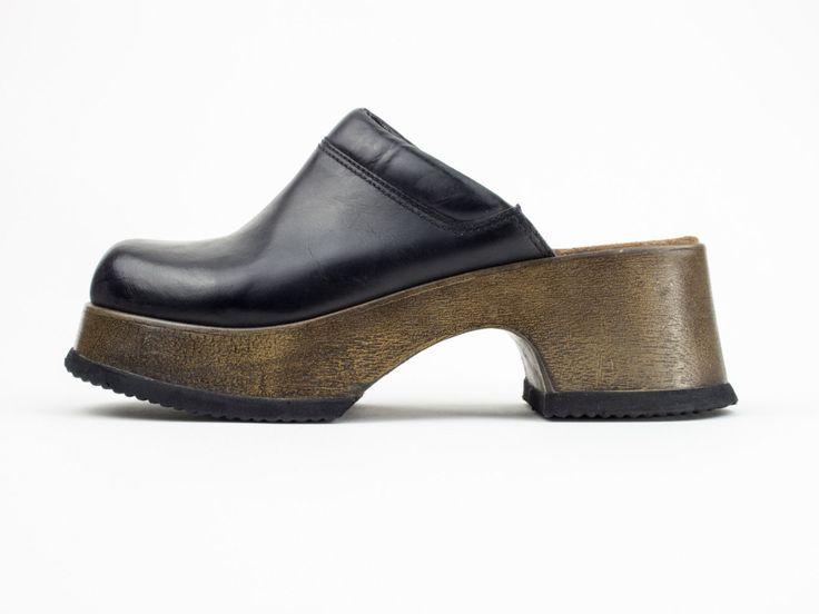 90s Vintage Chunky Platform Clog Sandal | Women's Size US 7.5 - UK 5.5 -  Euro. Clog SandalsClub ...