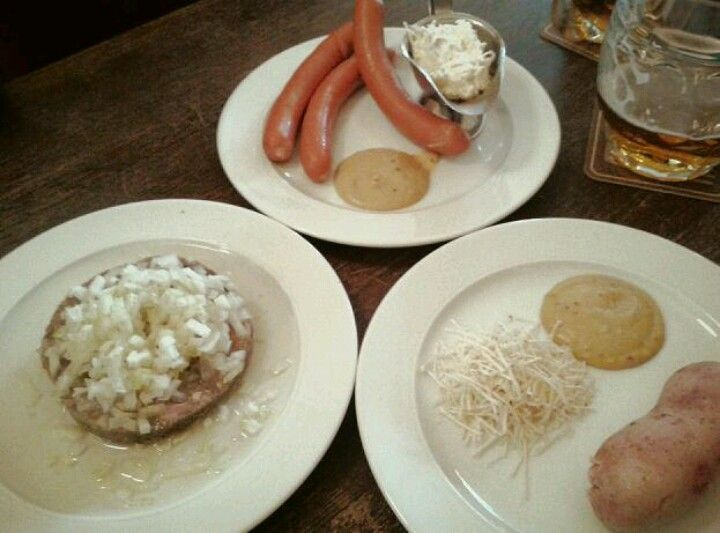 A selection of Czech sausages