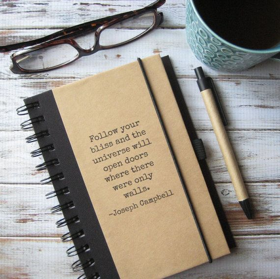 Quote Journal Joseph Campbell Graduation Gift for Women by zany