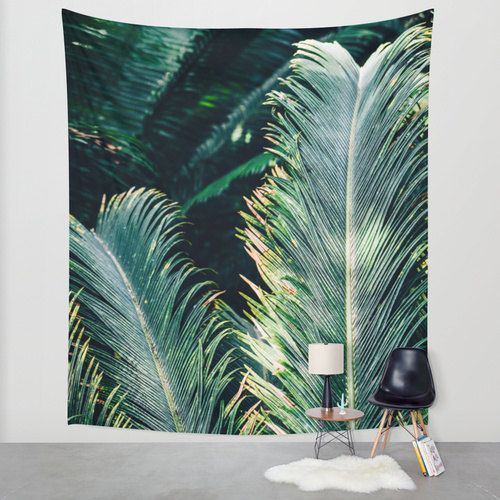Palm Tree Tapestry Botanical Nature By Patihomedecor My Bungalow In 2018 Pinterest Leaves And