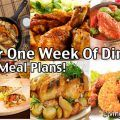 $30 for 1 Week of Dinners - Cheap Meal Plans For Families