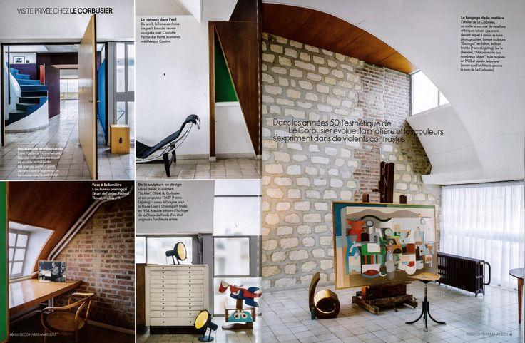 Projecteur 365 design by Le Corbusier reissued by #nemolighting http://nemolighting.com/products/show/projecteur-365-floor/  Escargot design by Le Corbusier reissued by #nemolighting http://nemolighting.com/products/show/escargot/  Nemo's lamps at Le Corbusier's apartment in Paris. ELLE DECOR FRANCE n° 233 with NEMO and La Fondation Le Corbusier #nemolighting #nemolamps #lecorbusier #elledecorationfr #elledecor — presso 24, rue Nungesser et Coli