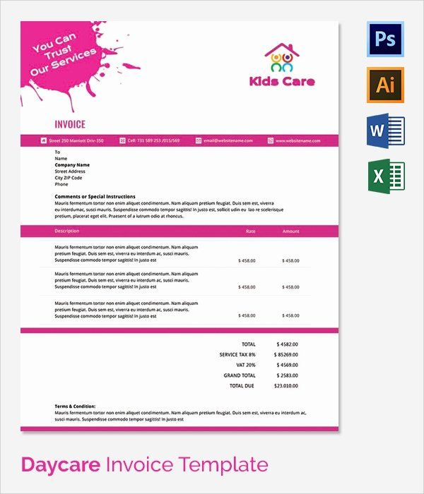 Child Care Invoice Template Awesome 38 Invoice Templates Free Sample Example Format Invoice Template Invoice Template Word Genogram Template