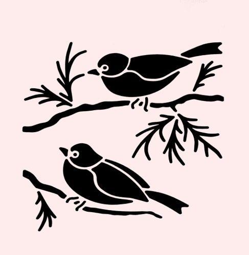 Sparrow-estencil-Pajarillos-Pajaros-plantillas-Bird-ramas-Craft-Plantilla-Nueva-7-x-5