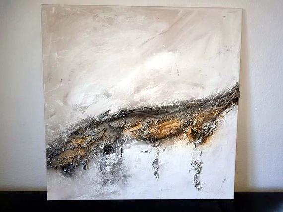 jean sanders wandbild 80x80cm wanddeko handgemalt auf rahmen abstrakt edel modern elegant gemalde originale noch mehr im shop art painting moderne kunstdrucke leinwand bilder kaufen