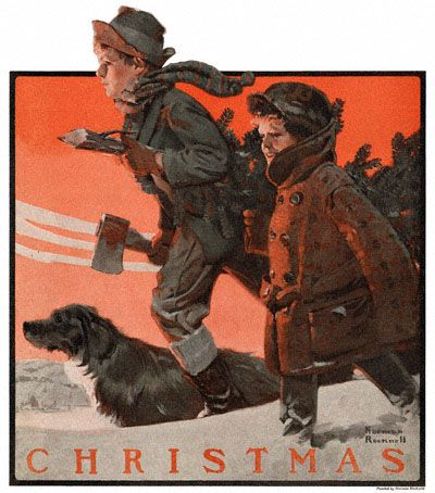 338 best Christmas by Norman Rockwell images on Pinterest | Norman ...