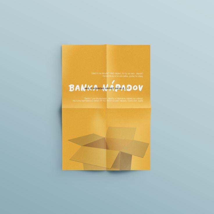 my graphic design portfolio - flyer - banka nápadov
