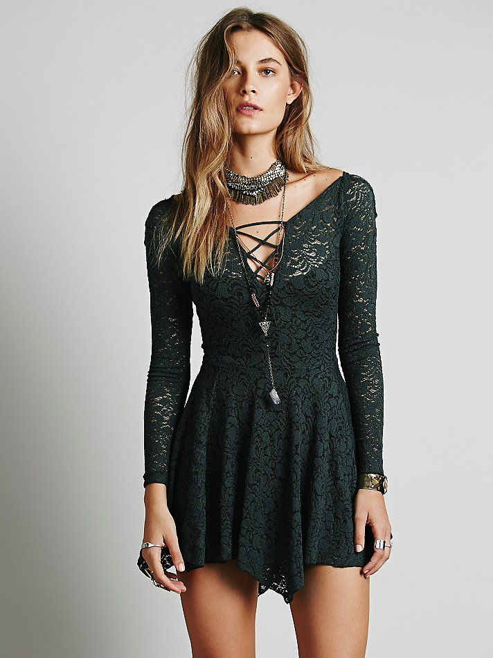 Intimately Juliet Lattice Fit and Flare Slip at Free People Clothing Boutique
