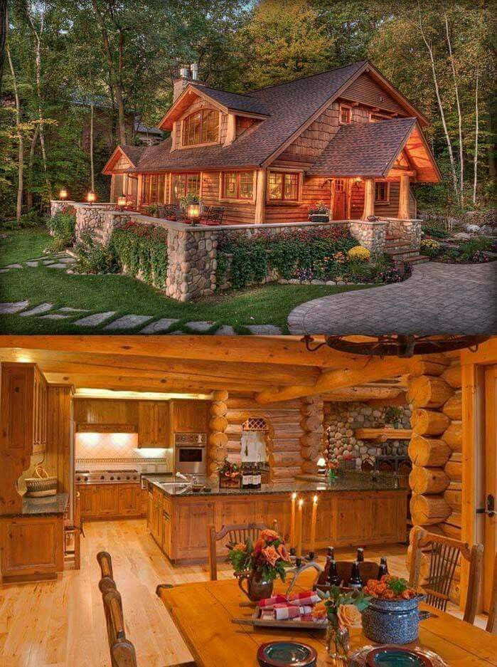 Amazing Ideas to make your rustic log cabin in the…