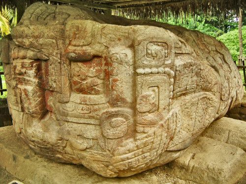 Left side of Zoomorph B at Quirigua