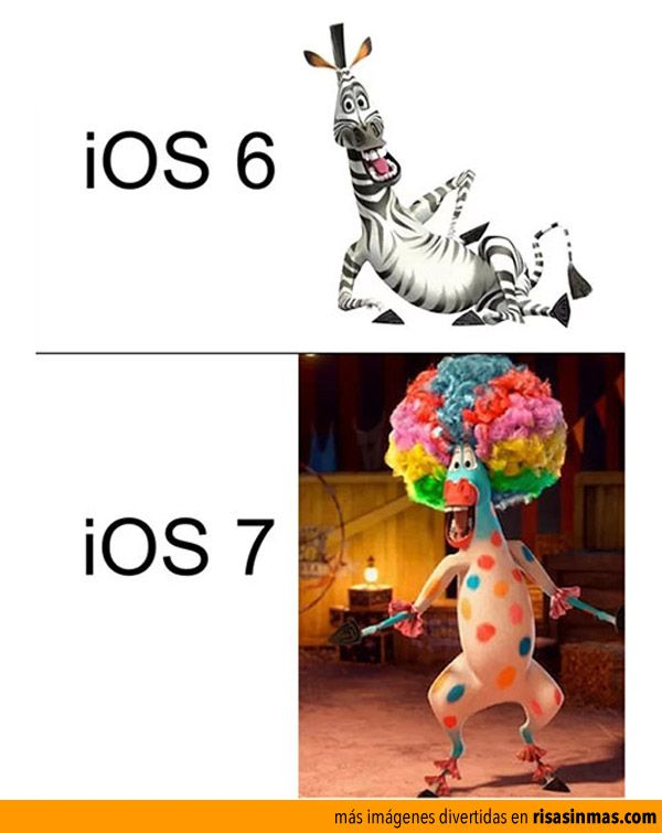 Diferencias entre iOS 6 y iOS 7.Apples Circus, Apples Iphone, Funny Image, Laugh, Funny Pics, Funny Stuff, Humor, True True, Comparison Charts