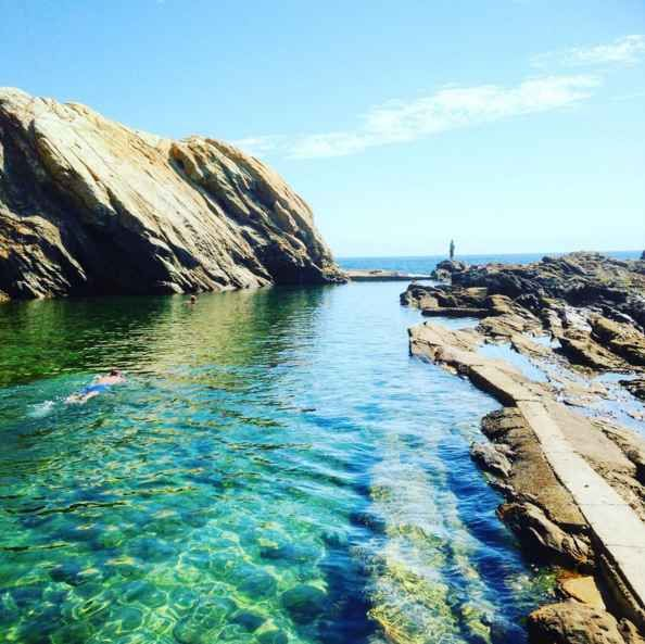 Do a spot of snorkelling in a natural rock pool.
