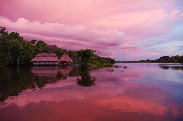 Coucher de Soleil sur l'Amazone. Leticia #colombia
