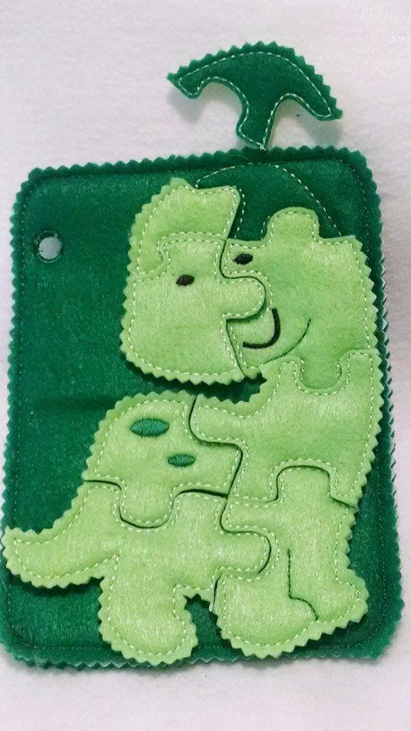 Dinosaur quiet book puzzle addon page