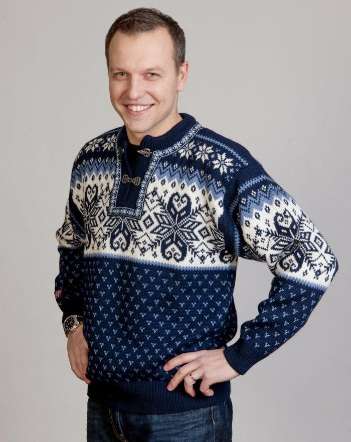Norweger Pullover blau schwarz