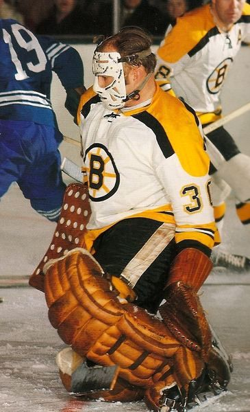 Boston Bruins - Gerry (cheese) Cheevers - Backstopped the Bruins to Stanley Cups in 1970 and 1972 - NHL Hall of Fame 1985