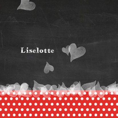Geboortekaart hartjes schoolbord - Geboortekaartjes - Kaartje2go