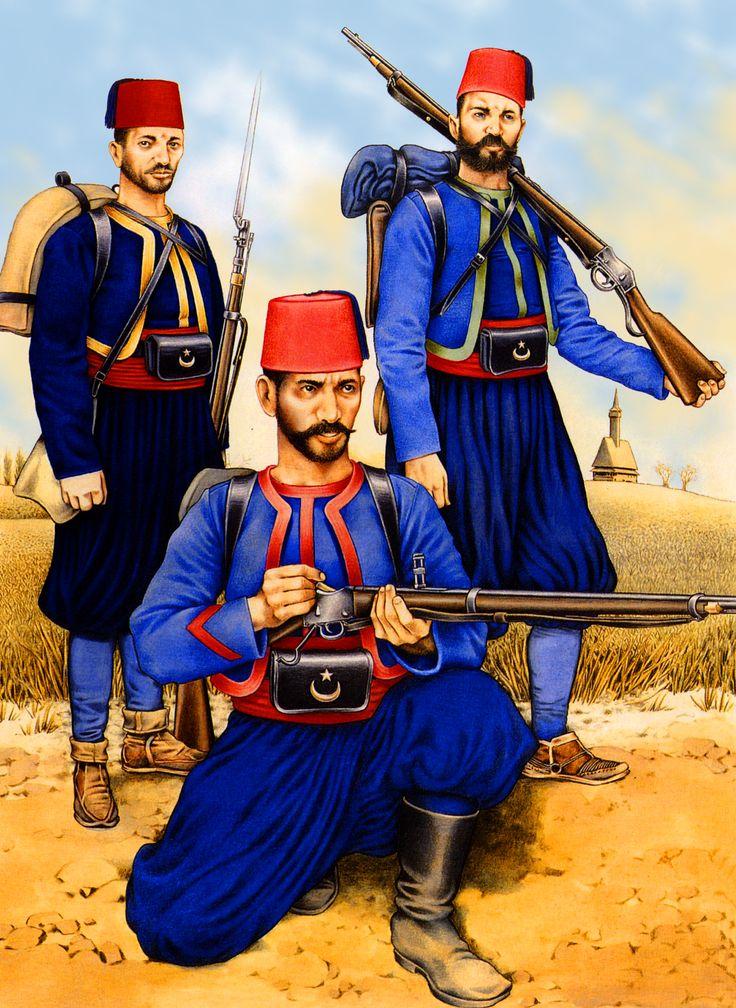 Turkish regular troops during The Russo-Turkish War 1877