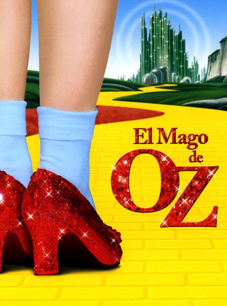 El mago de Oz y los zapatos rojos de dorothy
